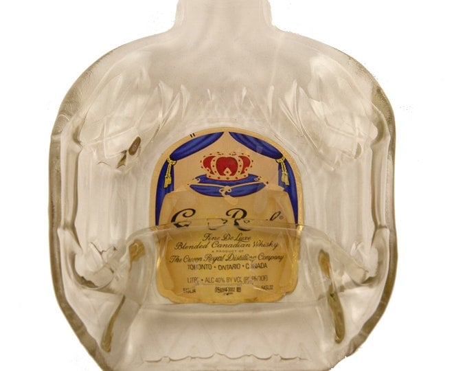 Crown Royal Melted into a DISH OR FLAT to hang..including Apple