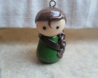 Female Archer Pawn Clay Charm