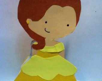 Handmade Princess Belle Card- Cardstock