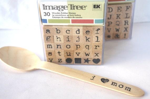 ALPHaBeT STaMP SeT--lowercase---Image Tree brand-antique typewriter font-30 piece