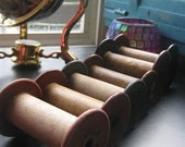 13 Mixed lot Vintage Pennsylvanian Antique Wooden Textile Mill Spools Pre 1930's Free Shipping excluding Hawaii, Puerto Rico, and Alaska