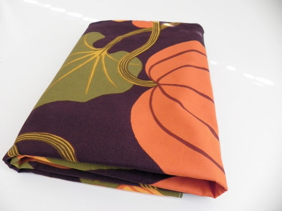 SALE BLACK FRIDAY Sale: Marimekko Autumn Harvest Baby Blanket Sale Cyber Monday Sale Half Price Scandinavian New Baby Gift Pumpkin Orange