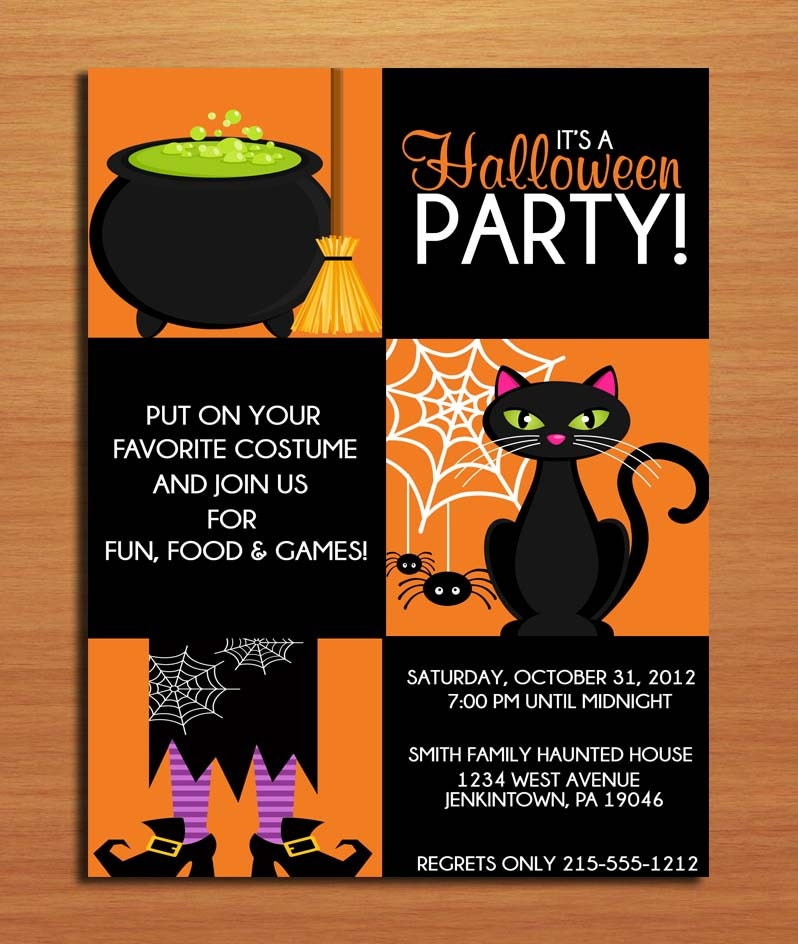 Witchy halloween party customized printable invitations diy for Make your own halloween mask online