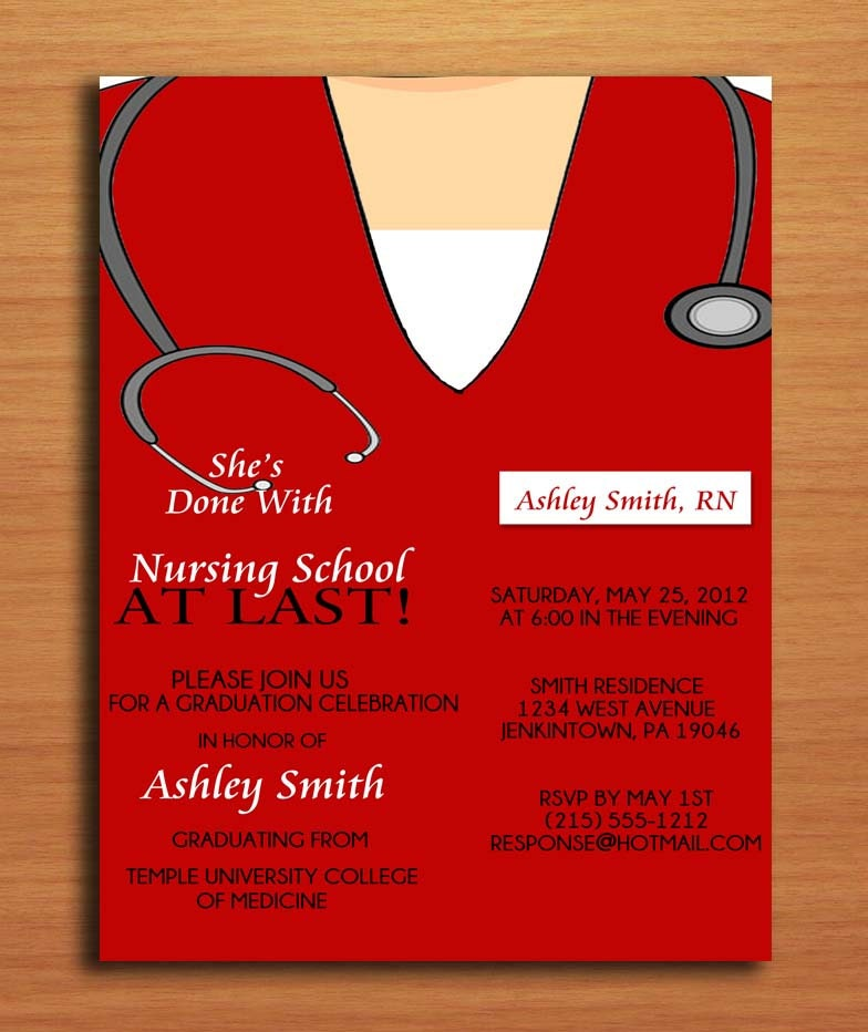 Medical Graduation Invitations for amazing invitations sample