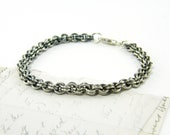 Sterling Silver Chain Bracelet - Oxidized Handmade Chain Jewelry - CharleneSevier