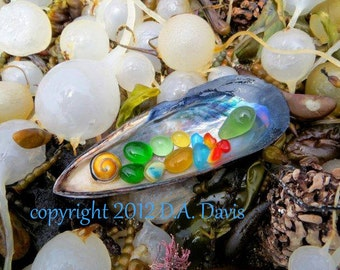 11 x 14 Beach Sea Glass Art Photo Print-A