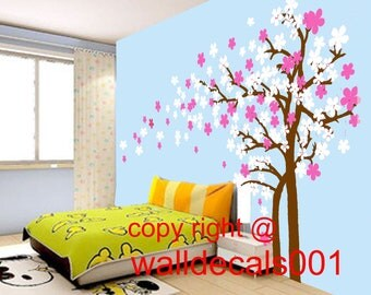 Flower wall decals wall stickers tree decasl Trailing Cherry Blossom Tree