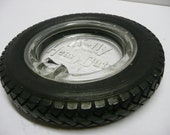 Tire Ashtray Automobilia Tobacciana Gas Station Garage Kelly Springfield Heavy Duty 34x7 Promotional Advertising Collectable Kitsch