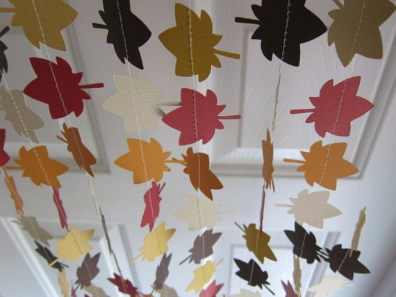 Fall garland leave garland autumn decorations thanksgiving for Autumn window decoration