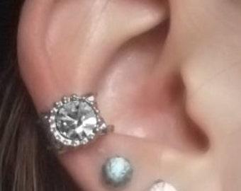 Diamond in the Rough Ear Cuff
