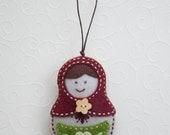 Felt babushka ornament