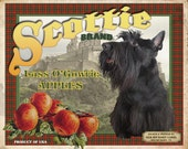 Scottish Terrier Small Wooden Crate