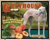 Greyhound Small Wooden Crate