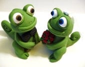 Chameleon Wedding Cake Topper - Choose Your Colors