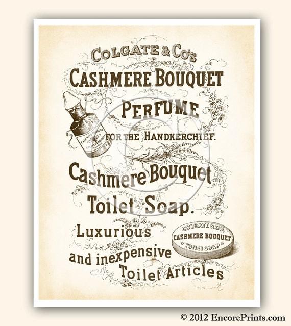 Bathroom Art Vintage: Vintage Bathroom Decor CASHMERE BOUQUET Soap Ad Vintage Art