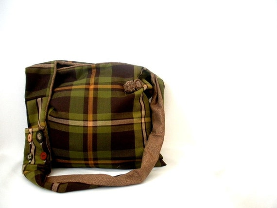 gift for her.  christmas gift idea.    not my plaid is rad bag
