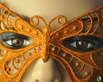 Autumn Harvest Butterfly Mask