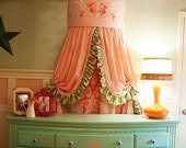 Beautiful Pink Velvet Addison Cornice Drapery Panel Pair
