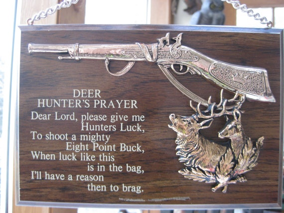 Vintage Hunter S Prayer Sign