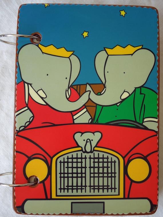 Babar and Mrs. Babar wooden book