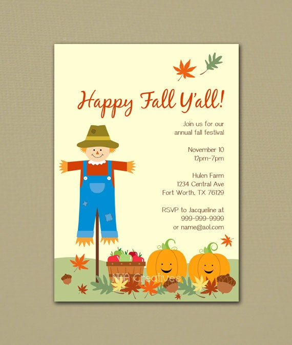 Terrible image with regard to free printable fall party invitations
