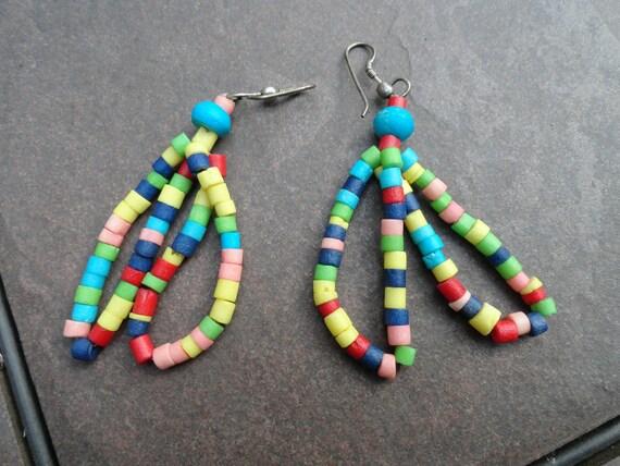 African inspired beaded earrings