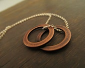 Unity - Overlapping Circles Necklace - Copper and Sterling Silver Jewelry