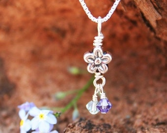 Forget Me Not Miscarriage Necklace, Memorial Miscarriage Jewelry