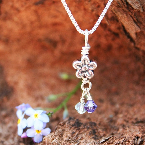 Forget Me Not Miscarriage Necklace Memorial Miscarriage