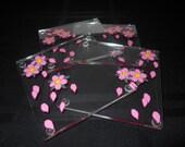 Set of 4 Cherry Blossom Acrylic Coasters