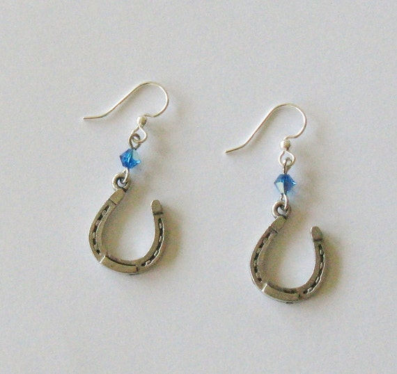 NFL Earrings - Indianapolis Colts - Dangle Earrings with Swarovski Crystal