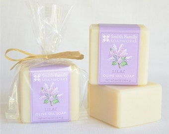 Lilac Soap -  Handmade Soap, Olive Oil Soap, Natural Soap Bar, Cold Process Soap