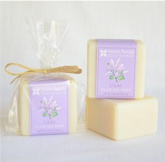 Lilac Soap -  Handmade Soap, Olive Oil Soap, Natural Soap Bar, Cold Process Soap