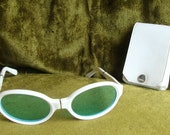 Vintage Folding Glasses with Case