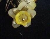 Yellow Bell Flower Earrings