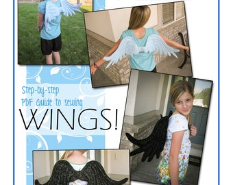 WINGS:  PDF Sewing Pattern for quilted costume or cosplay wings