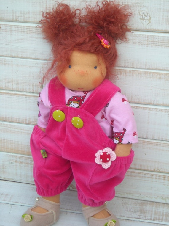 Reserved for Kim - Handmade Organic Waldorf Doll - Princess Merida