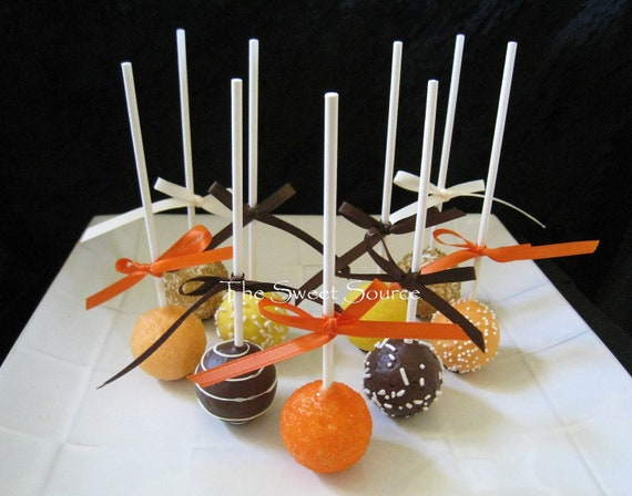 Cake Pop Decorating Ingredients : Items similar to Fall Cake Pops: Premium Cake Pops Made to ...