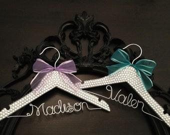 Rhinestone Bling Hanger / BLING Kids Hanger / Children's Personalized Hanger / Baby Shower Gift / Flower Girl Hanger / Flower Girl Gift