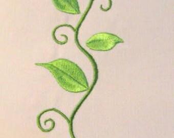 Vintage Flower 07 Machine Applique Embroidery Design - 5x7 & 6x8