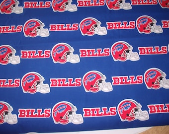 1 3/8 yards-Official NFL Licensed Bills cotton fabric