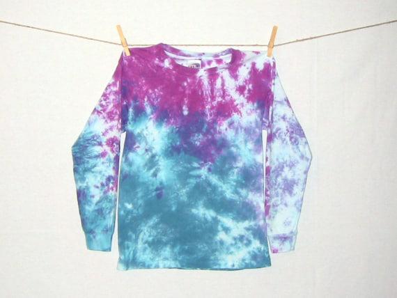 Size youth l tie dye acid wash long sleeve t shirt by for Custom acid wash t shirts