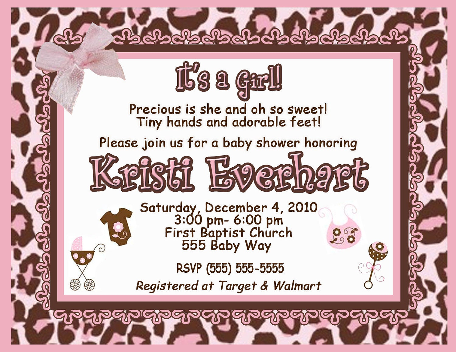 custom pink cheetah print baby girl shower invitation jpeg