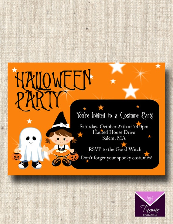photograph about Printable Halloween Birthday Invitations identify Printable Halloween Invitation - Adorable Childrens Halloween or