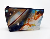 Nebula cosmetic bag 7 inch outer space starfield zipper pouch