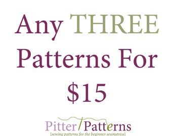 Custom Three Pattern Bundle - You Pick Three
