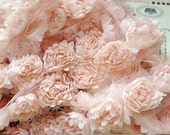 Nude Pink 3D Chic rosette Lace trim for wedding bouquet bridal lace fabric trim,baby headbands