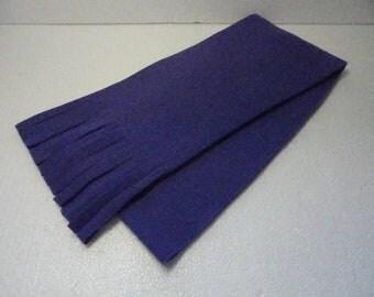 Winter Fleece Scarf in  True Purple