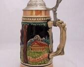 Western Germany Beer Stein, Vintage Beer Mug, Ceramic Mug, UK Seller
