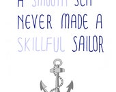 Anchors Away - 8x10 Illustration Art Print